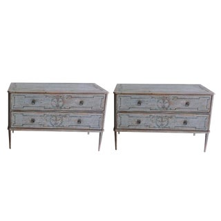 Late 19th Century Pair of Gustavian Chests For Sale