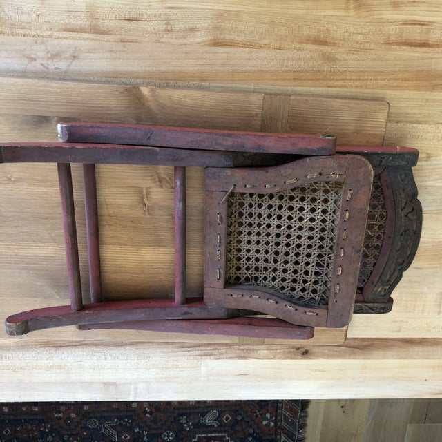 Antique Chinese Child's or Doll's Chair For Sale - Image 4 of 8