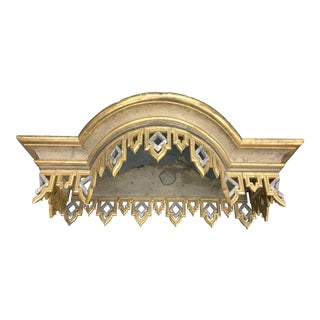 19th C Italian Silver and Gold Parcel Gilt Bed Corona For Sale