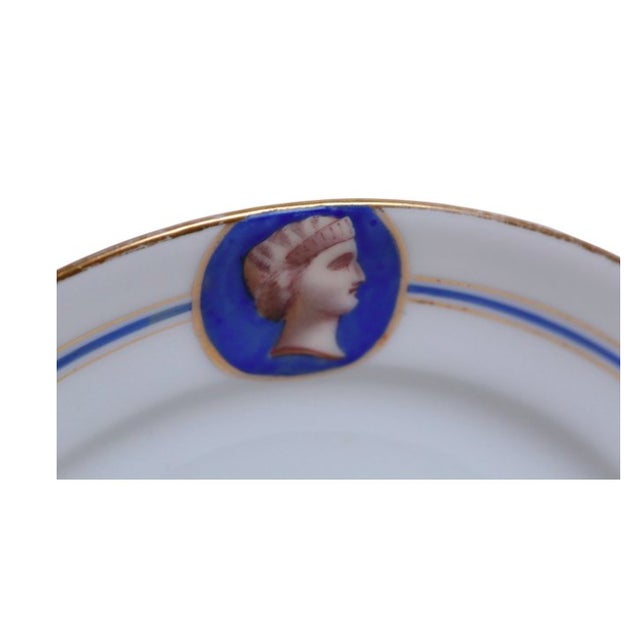 Old Paris Porcelain Neoclassical Plate - Image 2 of 3
