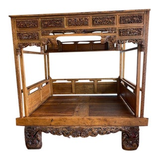Late 19th Century Chinese Wedding Canopy Bed For Sale