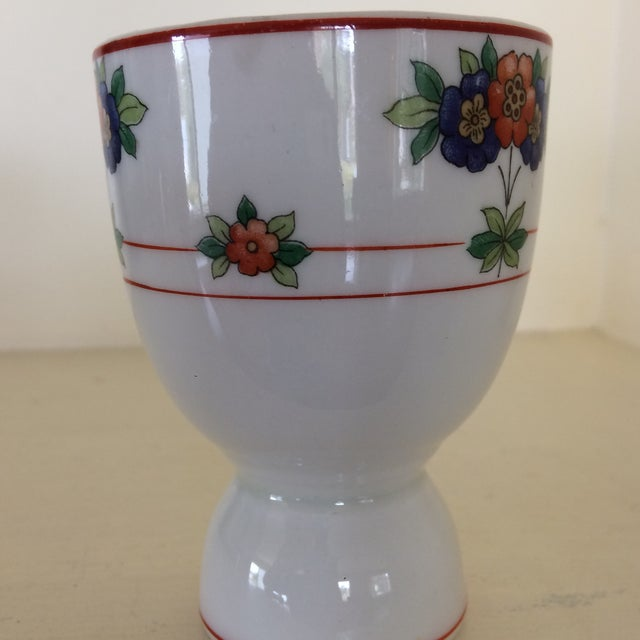 American Classical Vintage Floral Egg Cup For Sale - Image 3 of 7