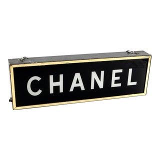 1950s Vintage Chanel Illuminating Display Store Light Sign