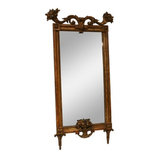 18th Century Italian Gold Leaf Mirror For Sale