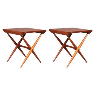 Pair of Staved Teak Occasional Tables by Jens Quistgaard For Sale