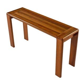Scandinavian Modern Solid Teak Sofa Table Console For Sale