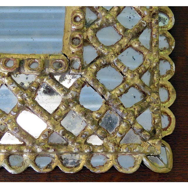 Antique Accent Mirror For Sale - Image 4 of 10