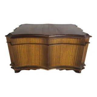 English Scalloped Humidor Box C. 1900 For Sale