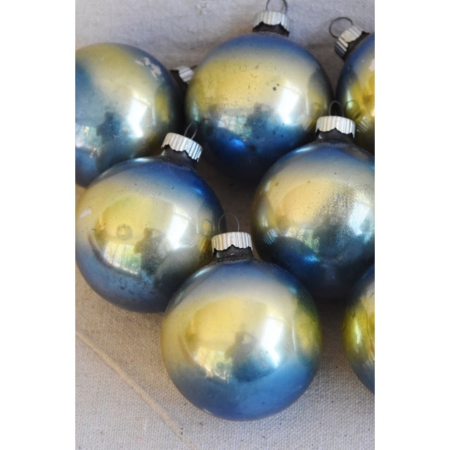 Ombre Vintage Colorful Christmas Tree Ornaments W/Box - Set of 12 For Sale In Los Angeles - Image 6 of 10