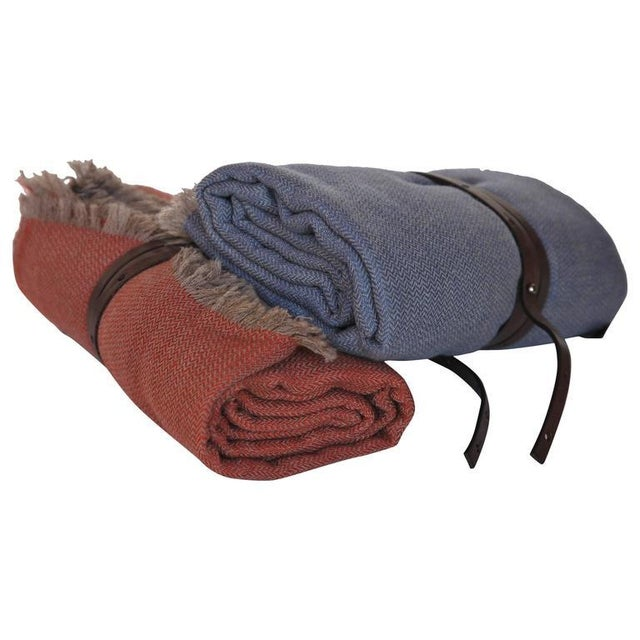 Contemporary Cashmere Travel Throws For Sale - Image 3 of 3
