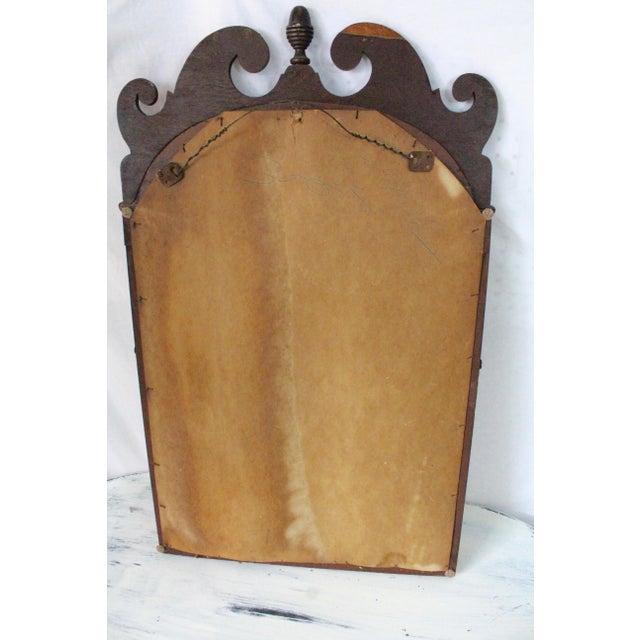 1940s 1940s Art Nouveau Acorn Finial Scroll Mirror For Sale - Image 5 of 9