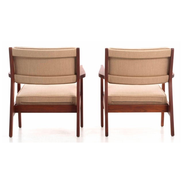 1940s Jens Risom Lounge Chairs For Sale - Image 5 of 13