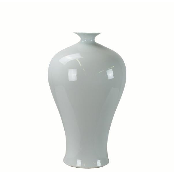 Large Asian Style White Porcelain Vase For Sale - Image 4 of 4