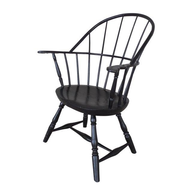 Antique Hoop Back Windsor Armchair For Sale