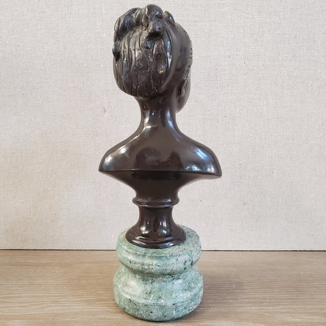 Female Bust on Italian Marble Base For Sale In Dallas - Image 6 of 10