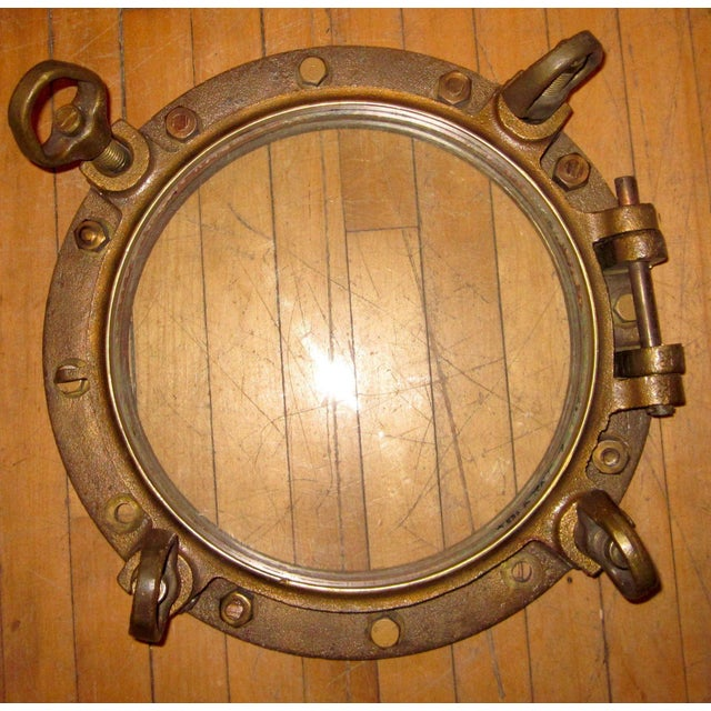 Metal 1910s Nautical Brass Maritime Portholes - a Pair For Sale - Image 7 of 10