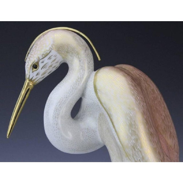 Mid-Century Modern 1980s Realism Stork Sculpture by Mangani for the Oggetti Company For Sale - Image 3 of 8