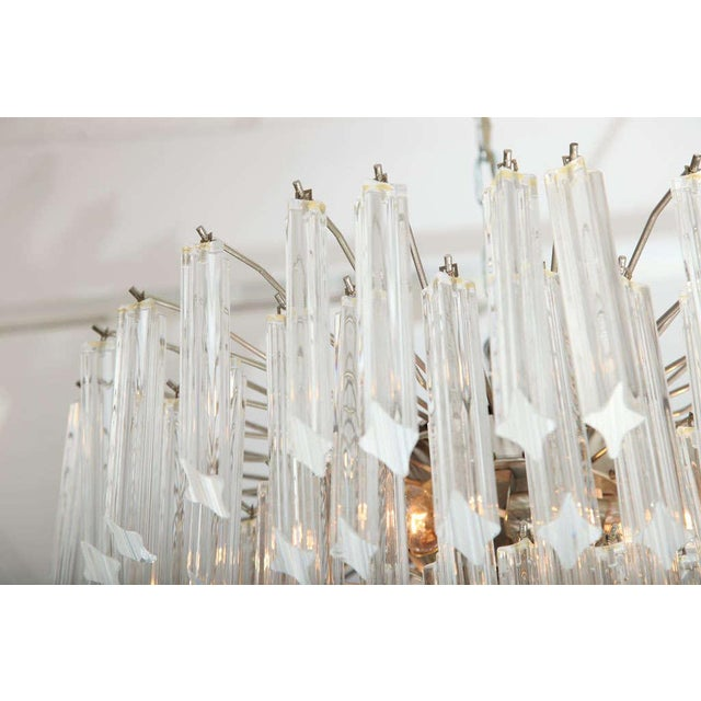 Glass Seven-Tier Venini Chandelier For Sale - Image 7 of 8