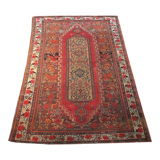 Early 20th Century Antique Persian Malayer Rug - 4′1″ × 5′5″ For Sale