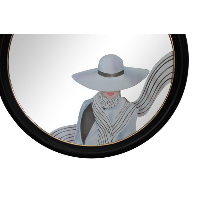 Art Deco Art Deco Style Round Wall Mirror For Sale - Image 3 of 7