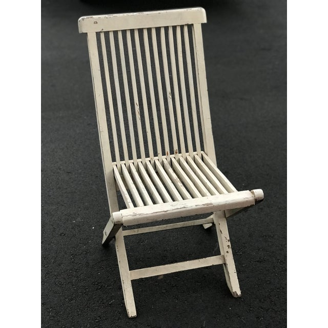 Mid-Century Modern Late 19th Century Antique Swedish White Chair For Sale - Image 3 of 6