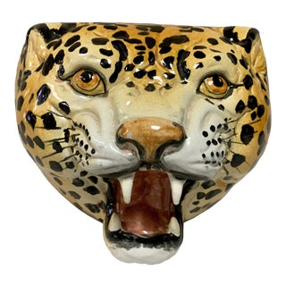 Large Italian Leopard Bowl /Planter For Sale