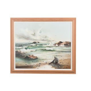 """Nautical """"Seascape"""" Oil Painting For Sale"""
