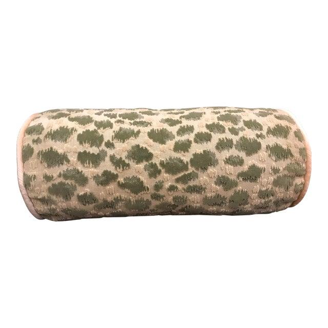 Hollywood Regency Brunschwig & Fils Zambezi Grospoint Leopard Velvet Epingle Pillow For Sale