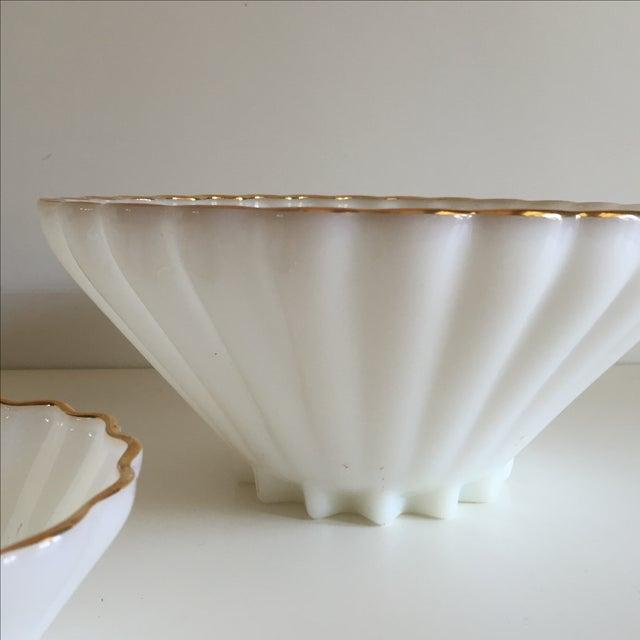 Classic Milk Glass Anchor Hocking Bowl Set - Pair - Image 5 of 10