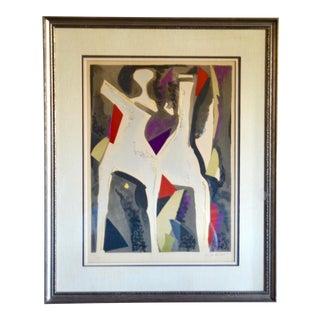 Marino Marini Original Lithograph Horses and Riders 1974 For Sale