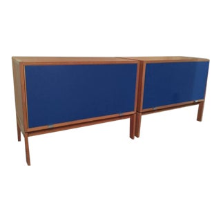 Pair of Modern Danish Chests with Top Hinged Door by Henning Jensen