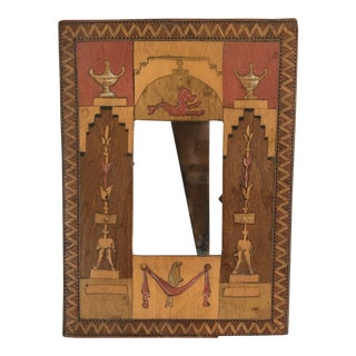 Antique Italian Neoclassical Wood Inlay Picture Frame For Sale