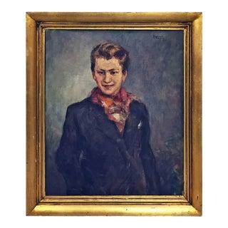 1940s Belgian Portrait by Raphael Dubois For Sale