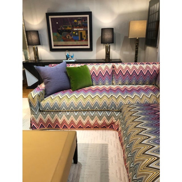 Contemporary Stephen Gambrel Designed Custom Missoni Sectional For Sale - Image 3 of 4
