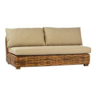 Jumbo Rattan Weave Sofa