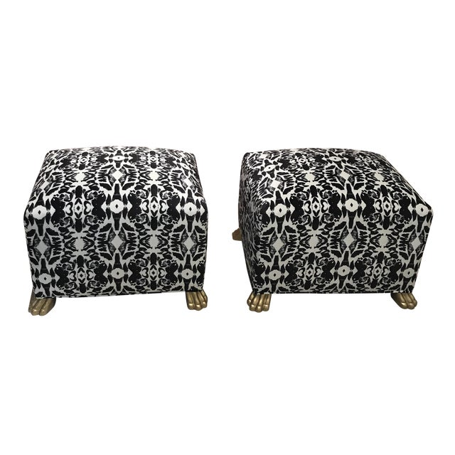 Society Social Paloma Footstools - A Pair - Image 1 of 4