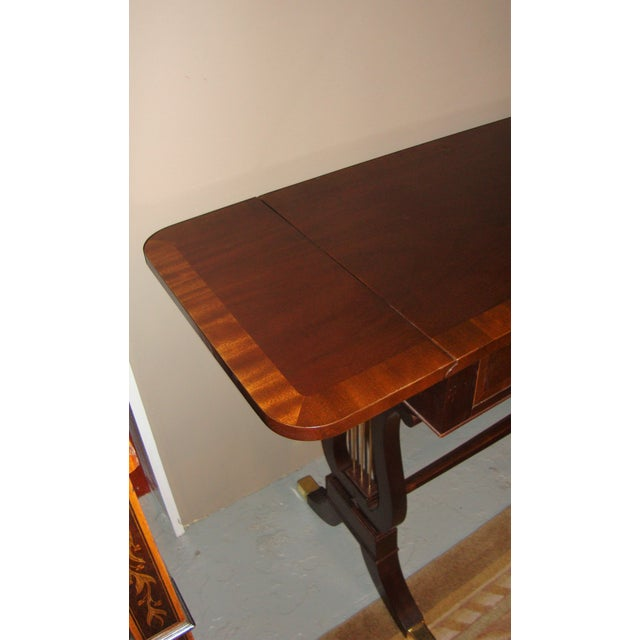 Baker Furniture Company Mahogany Sofa Table - Image 9 of 10