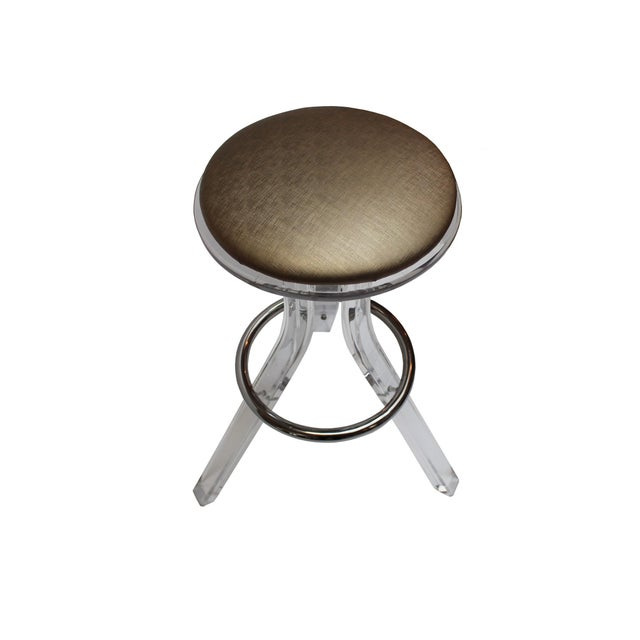 Charles Hollis Jones Lucite Barstools - A Pair - Image 2 of 4