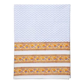 Juhi Chevron Flat Sheet, Queen - Periwinkle For Sale