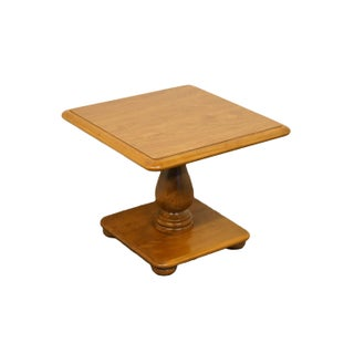 20th Century Early American Ethan Allen Heirloom Nutmeg Square Bunching Table Preview