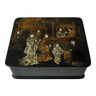 Antique Chinorisie Lacquer Box For Sale