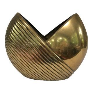 Art Deco Style Brass Vase