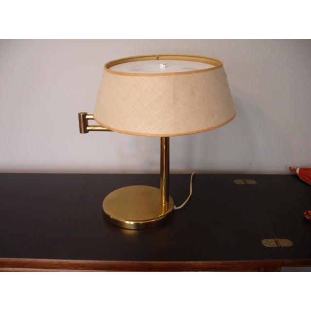 1960s Mid Century Modern Walter Von Nessen for Nessen Lighting Swing Arm Desk Lamp For Sale - Image 11 of 12