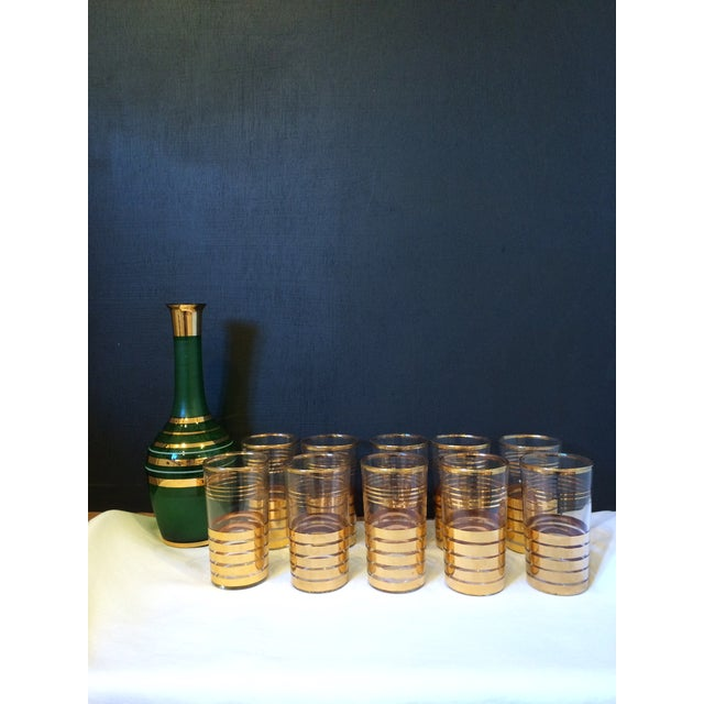 Holiday Christmas Bar Set with Culver Gold Glasses - Image 9 of 9