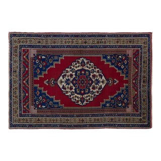 Turkish Anatolian Blue/Red Rug-9'10'' X 11'7'' For Sale