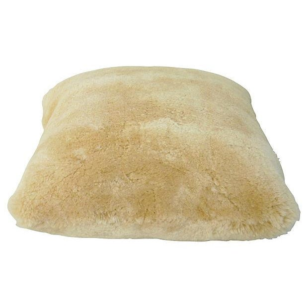 Golden Shearling Lambswool Pillow - Image 5 of 6