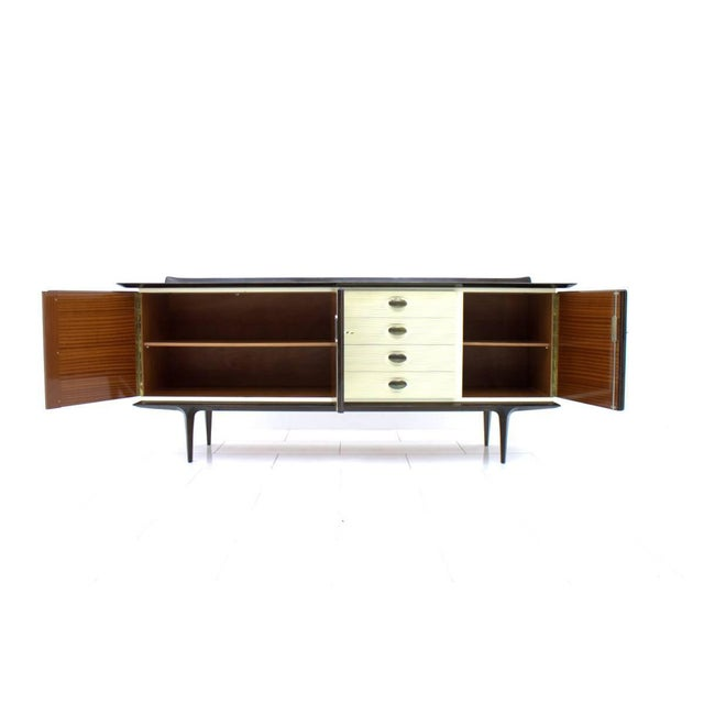 Mahogany and Brass Sideboard, Germany 1950s For Sale - Image 4 of 10