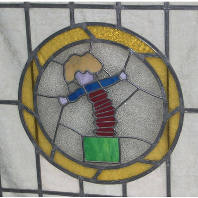 Late 20th Century Jack in the Box Stained Glass Window For Sale - Image 4 of 4
