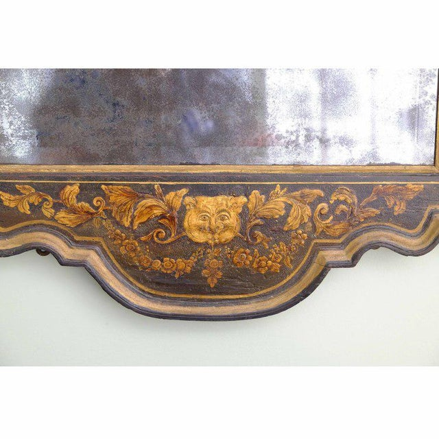 Early 18th Century George II Japanned Mirror For Sale - Image 5 of 7
