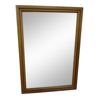 1980s Contemporary Oak Hall Wall Mirror For Sale